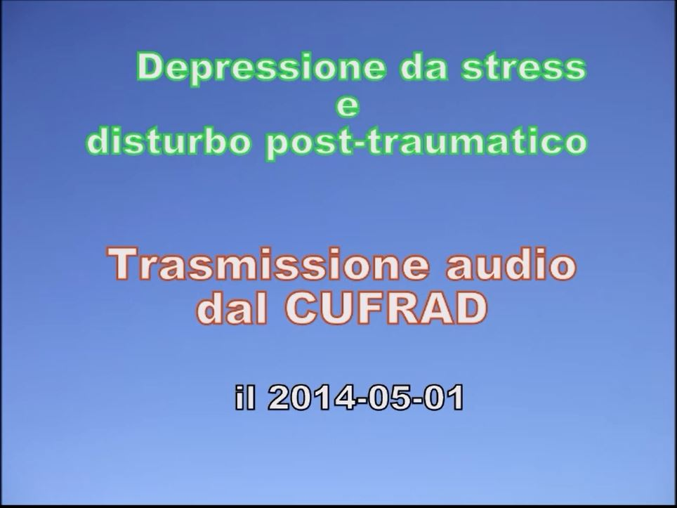 DEPRESSIONE DA STRESS E DISTURBO POST TRAUMATICO.